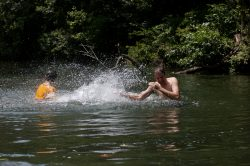 activities swimming hole splashing